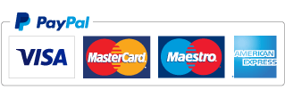 We accept payments via PayPal, Visa, Mastercard, Maestro, and American Express