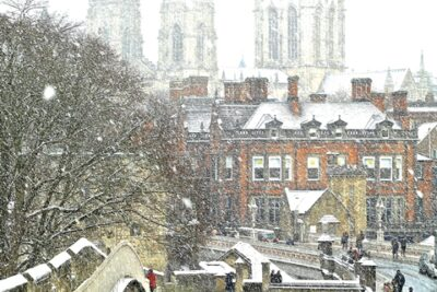 York Minster From The City Walls Christmas Card