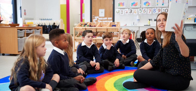 School children having a lesson